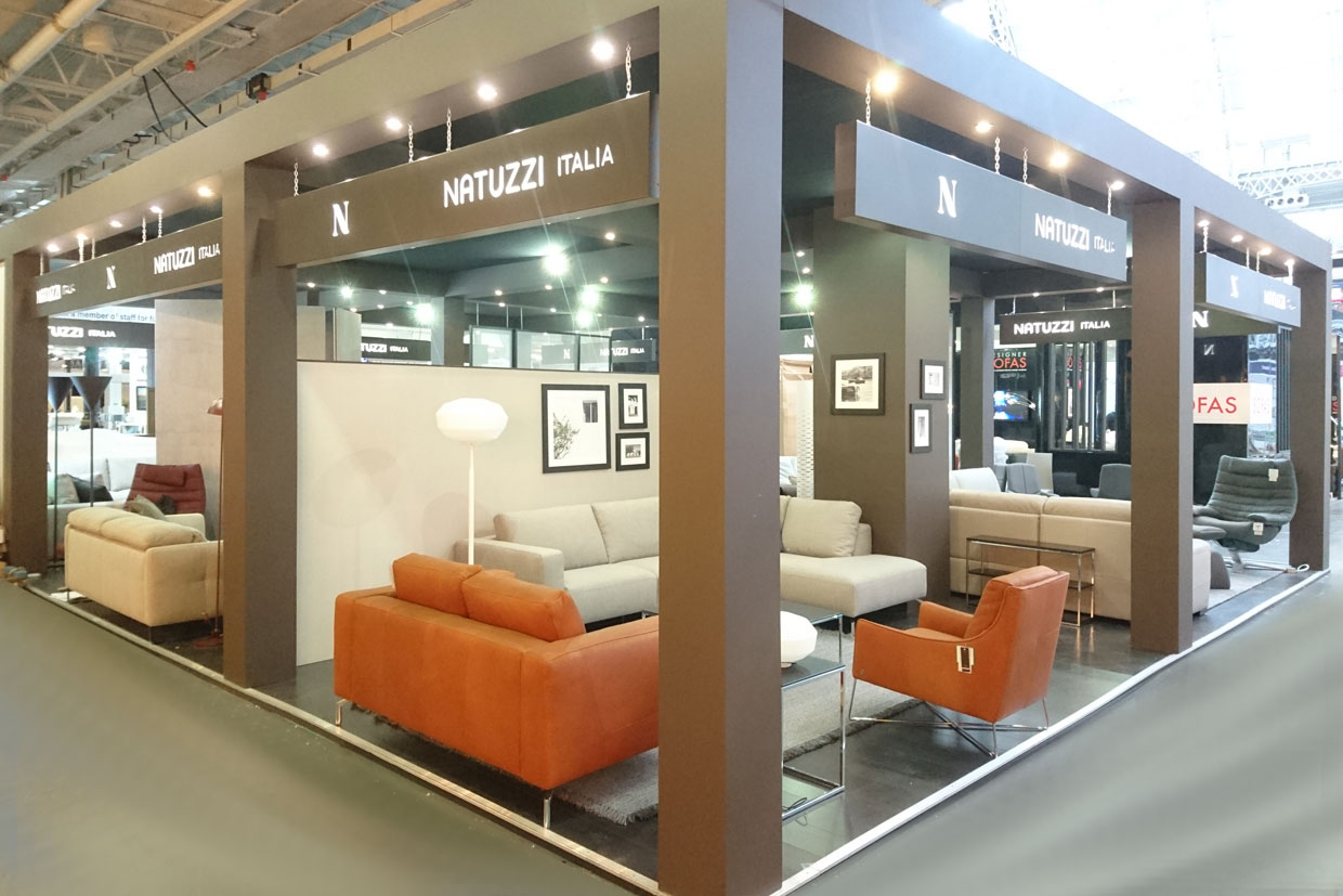 natuzzi ideal home show 2017 interlink design display. Black Bedroom Furniture Sets. Home Design Ideas